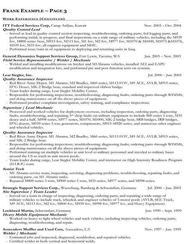 resume format for government jobs resume example government