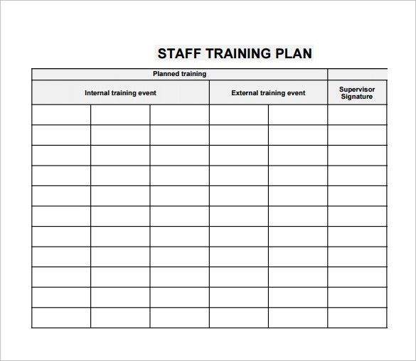 Employee Training Plan Template | business letter template