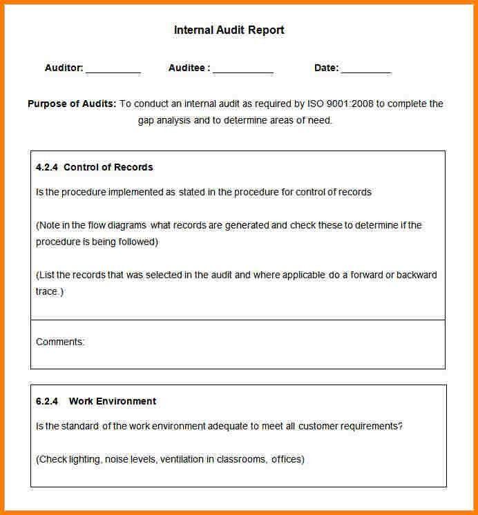 7+ internal audit report sample | Incident report