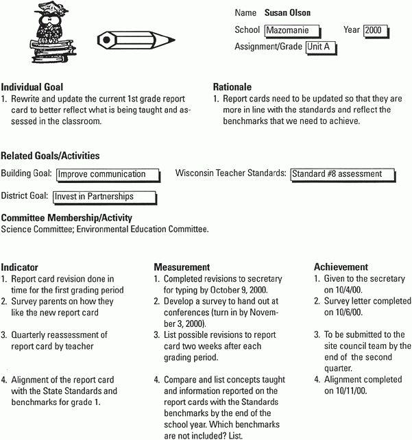 Appendix B. Sample Professional Development Plan