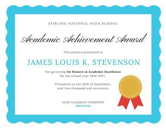 Award Certificate Templates. Award Template 06 50 Amazing Award ...