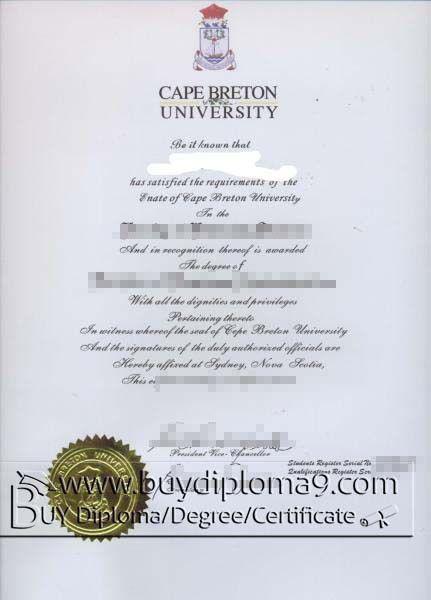 Cape Breton university degree, Cape Breton university certificate ...