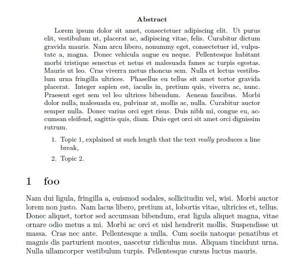 lists - Enumerate environments in abstract - TeX - LaTeX Stack ...