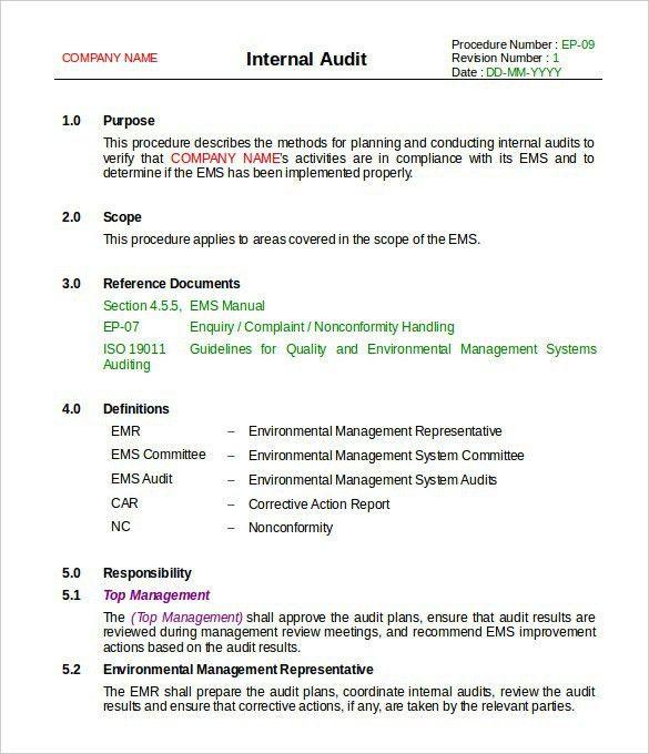 Doc.#585680: Audit Report Template Word – 14 Internal Audit Report ...