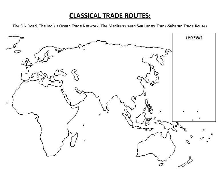 Classical Trade Routes 9th - 12th Grade Printables & Template ...