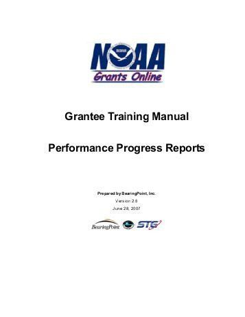 Grants Performance Review Progress Report Format - Tribal Youth ...