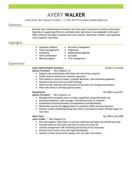 Resume For Administrative Assistant. Administrative Assistant Cl ...