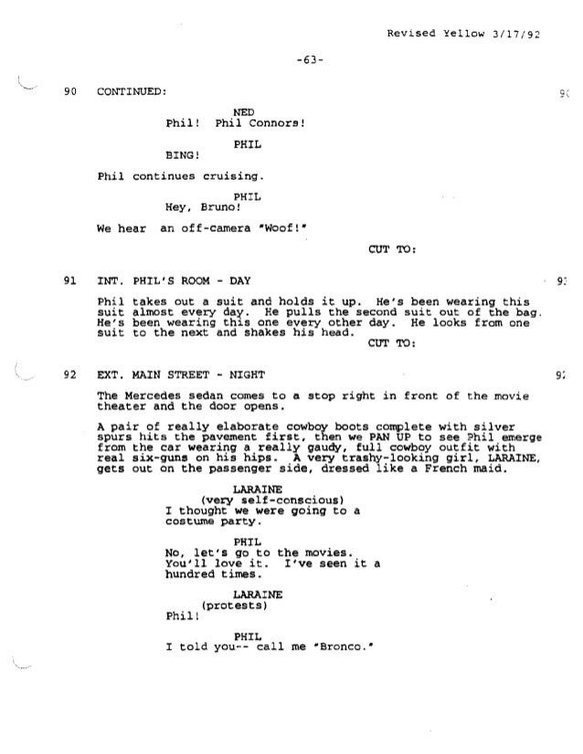 Groundhog Day Screenplay by Danny Rubin - for educational purposes