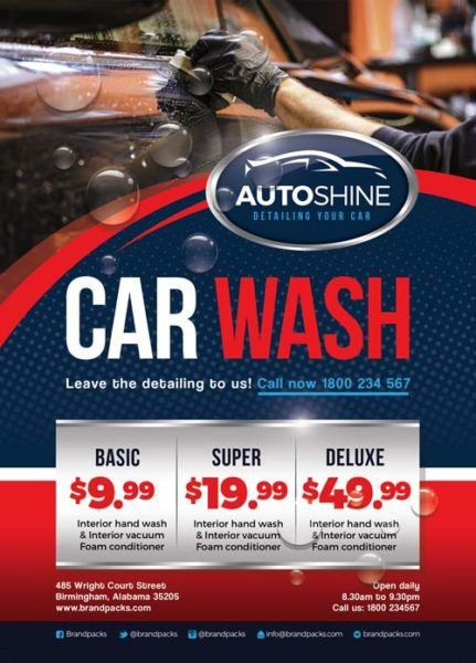 Free Car Wash Business Flyer Template - Download for Photoshop