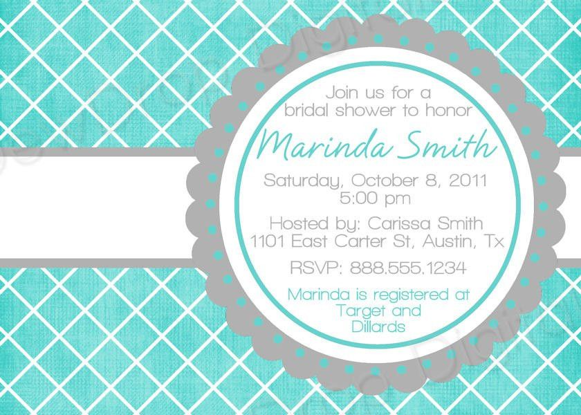 BLANK Template Bridal Wedding Shower Invitation Digital
