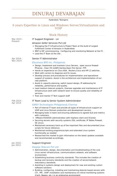 It Administrator Resume samples - VisualCV resume samples database