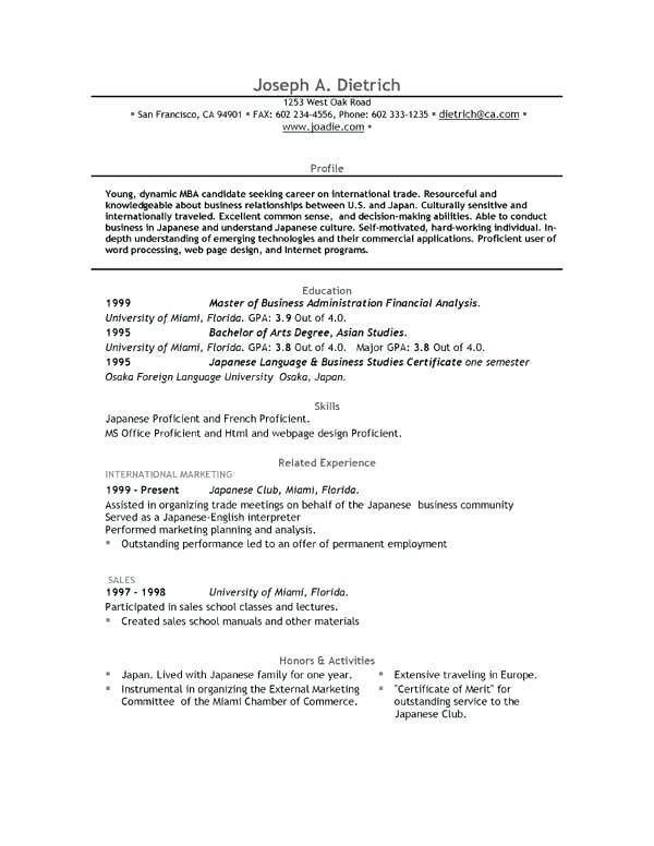 sample resume for graduate school application sample resume for