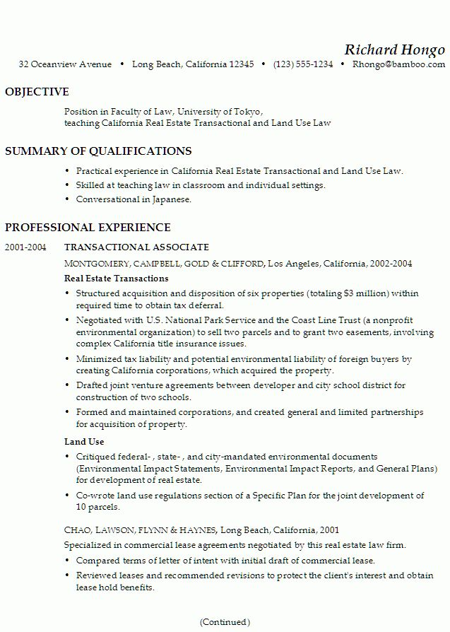 real resume samples | good resume format