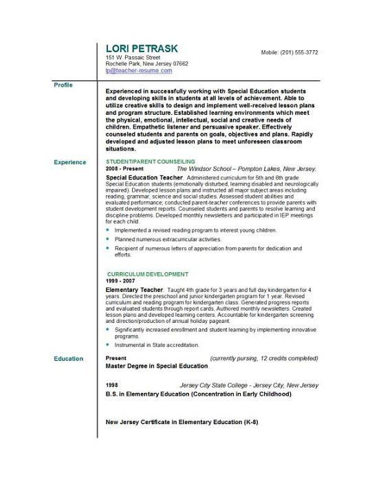 cover letter example teaching example teacher resume cover letter ...