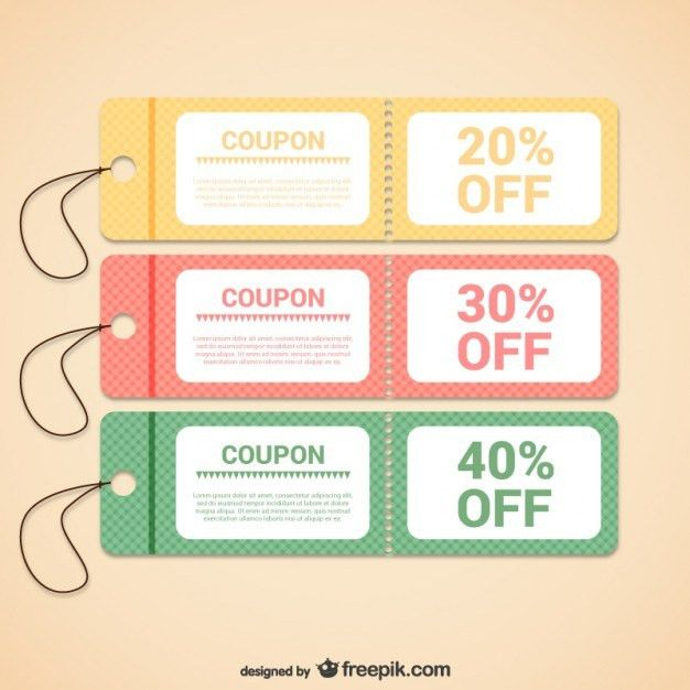 Coupon Template Vectors, Photos and PSD files | Free Download