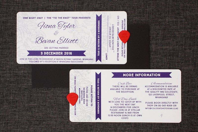 Concert Ticket Wedding Invitations - Be My Guest
