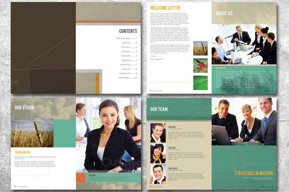 20 Page Annual Report Template by Lucion Creative | TheHungryJPEG.com