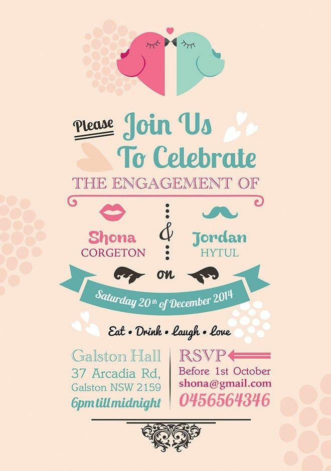engagement invitation card template free | Studiopins.Com