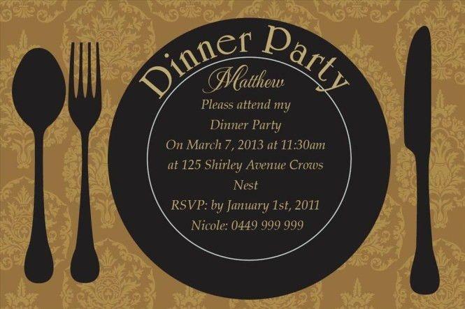 Dinner Party Invitation Templates - Wedding Invitation Sample