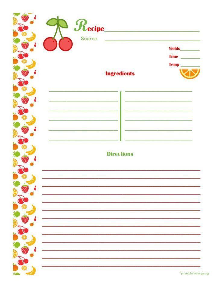 Best 25+ Cookbook template ideas on Pinterest | Clean book ...
