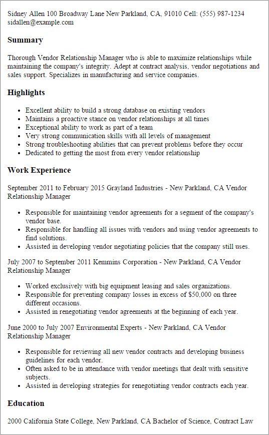 Relationship Manager Cover Letter Customer Relationship Manager