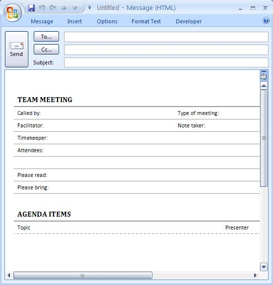 Download Ms Office Meeting agenda for e-mail (informal) Conference ...