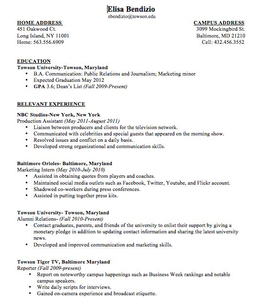 Well-Suited Ideas How To Write A Resume For College 4 First Job ...