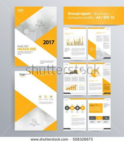 Page Layout Company Profile Annual Report Stock Vector 508326673 ...