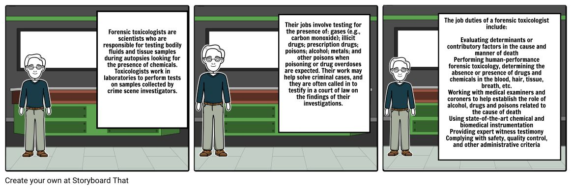 Module Nine Lesson Two Assignment: Comic Strip on Toxicology