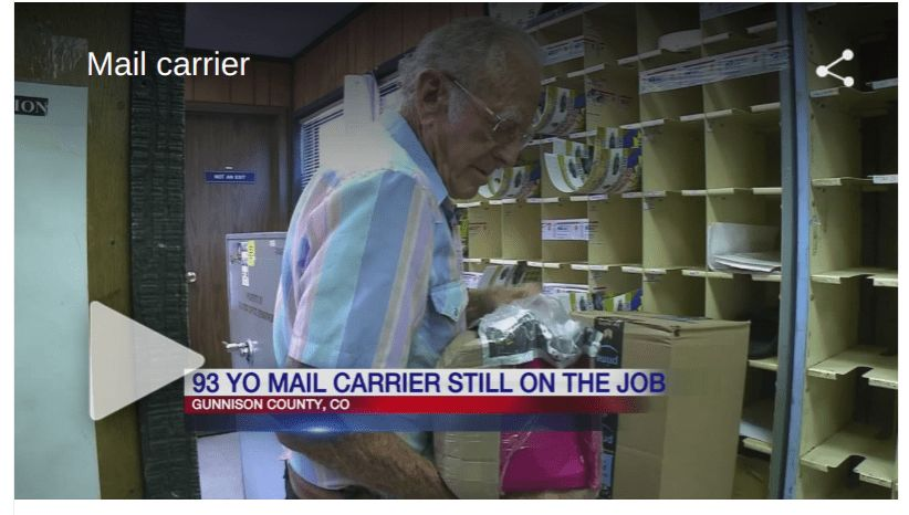 93-year-old mail carrier still on the job after 60 years ...
