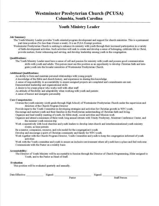 free examples of pastoral resumes how to write a pastor resume ...