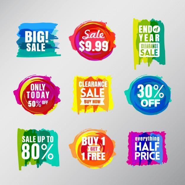 30+ Unique Sale / Discounts Labels & Stickers Free PSD | UTemplates