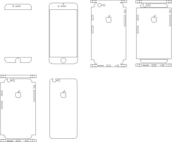 Download Template Apple iPhone 6 & 6s (Skins). Buy for Cutter AI ...