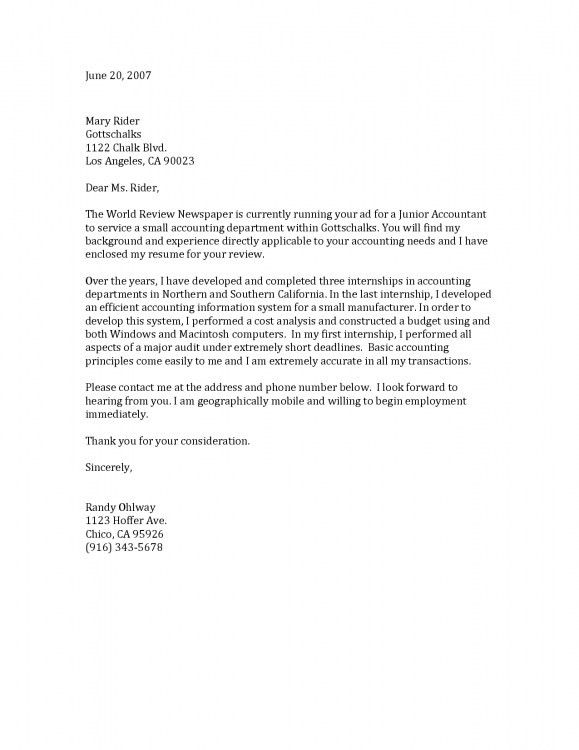General Cover Letter Examples [Template.billybullock.us ]