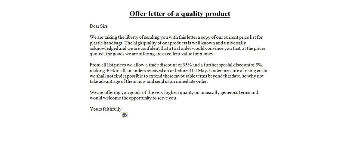 sample professional letter formats. reply for offer letter ...