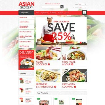 Grocery Website Templates