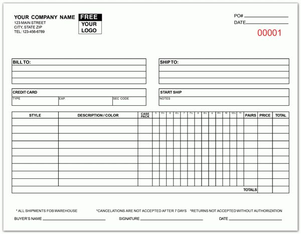 Apparel Order Form Template | Template Design