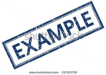 Example Round Blue Sticker Isolated On Stock Vector 336982538 ...