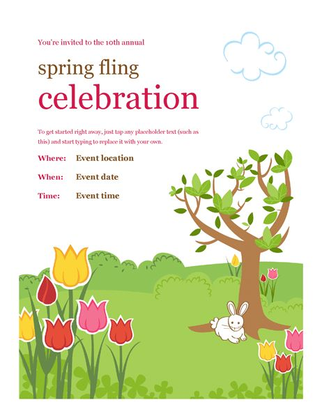Spring festivities flyer - Office Templates