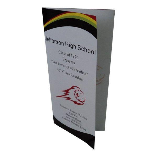 Cheap Class Reunion Memory Book Program Event Brochure - Template ...