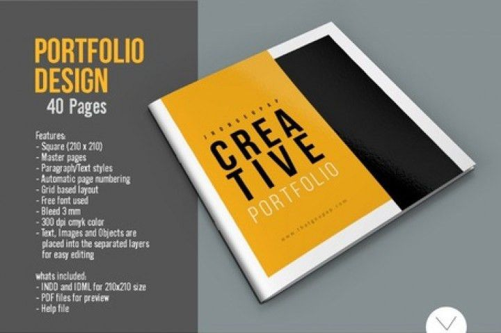 Graphic Design Portfolio Template by Top Design | TheHungryJPEG.com