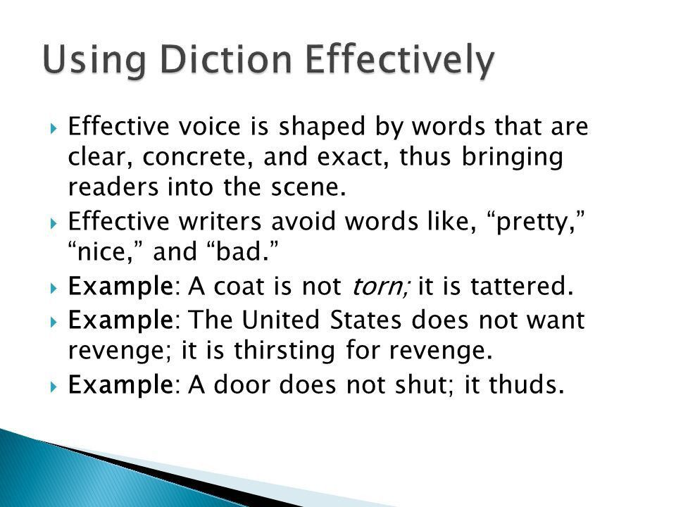 Acquiring a deeper understanding of text.  Diction  Detail ...