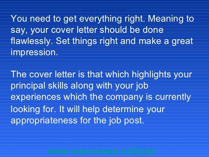 Impressive Ideas Cover Letter Meaning 5 Cover Letter Definition Of ...