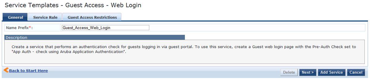 Guest Access Web Login