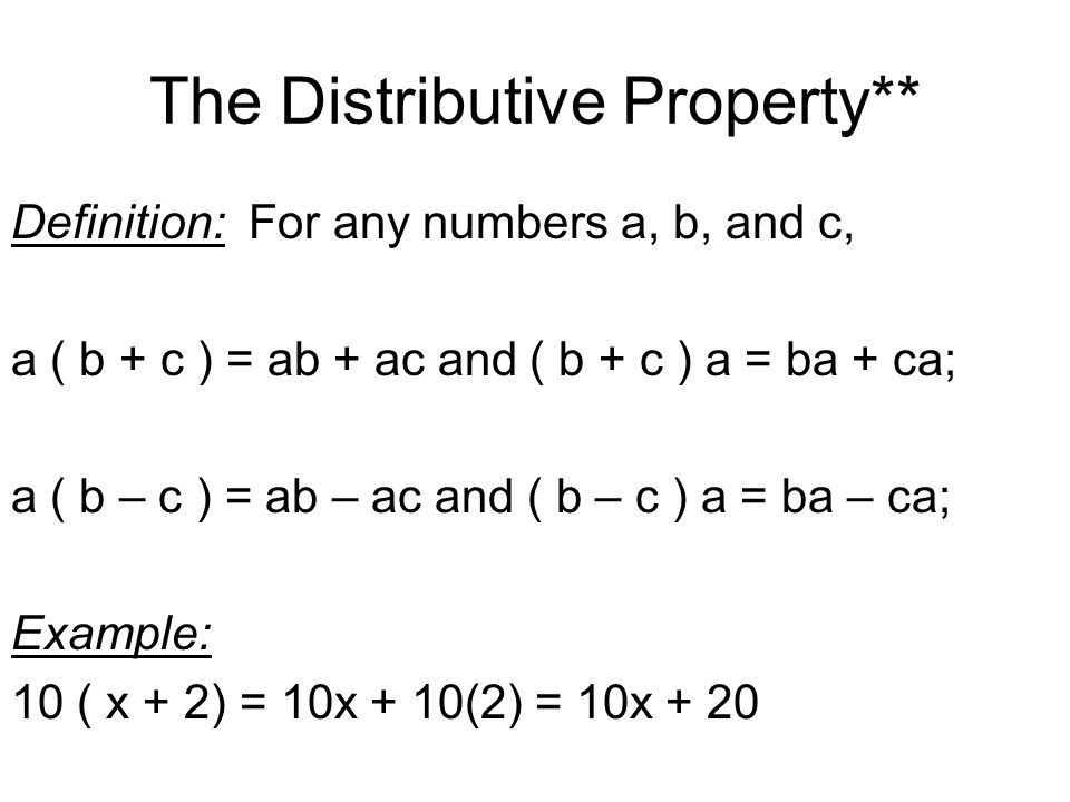 1-7 The Distributive Property - ppt video online download