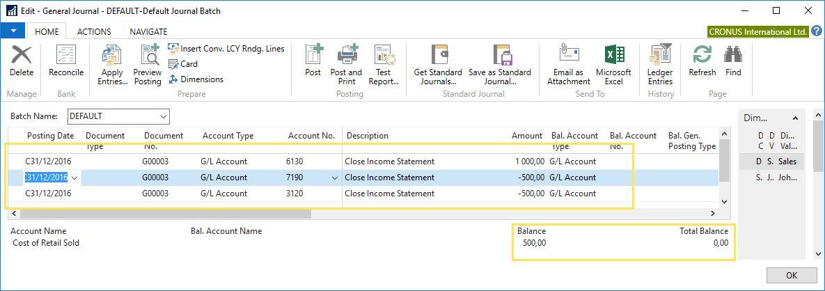 Income Statement Closure in Microsoft Dynamics NAV | Xpand company