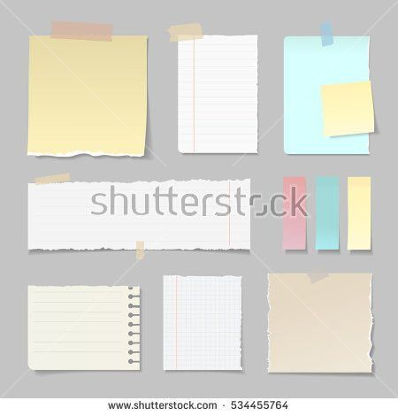 Torn Paper Banners Lined Clear Vertical Stock Vector 534455764 ...
