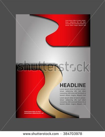 Black Red Template Advertising Brochure Stock Vector 443274109 ...