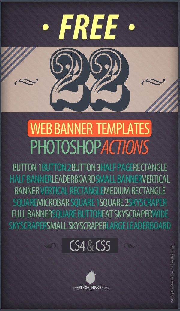 Free 22 Web Banner Photoshop Action Templates on Behance