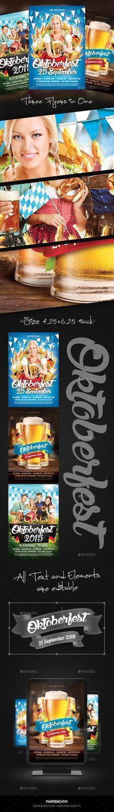 Oktoberfest Party Flyer Template PSD - Holidays Events | My Flyer ...